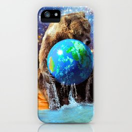Give Planet Earth A Bear Hug! iPhone Case