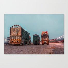 Trucks of Pakistan Canvas Print