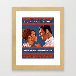 On Her Majesty's Secret Service Framed Art Print