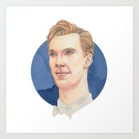 cumberbatch Art Prints featuring Cumberbatch by Megan Diño