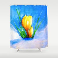 be brave Shower Curtains featuring Brave by Lidia von Essen