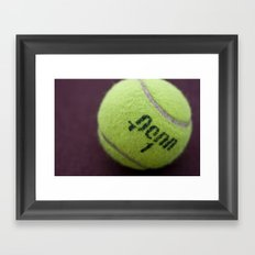 Anyone for tennis? Framed Art Print