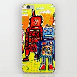 Save The Robots iPhone Skin