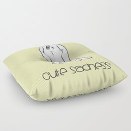 Cute Sadness Floor Pillow