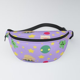 final fantasy pattern lilac Fanny Pack