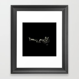 Deep pleasure Framed Art Print