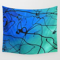 abyss Wall Tapestries featuring The Abyss by Andrea Gingerich