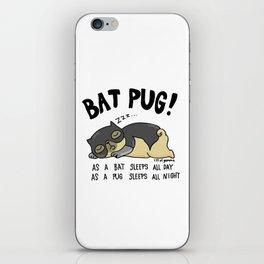Bat Pug! iPhone Skin
