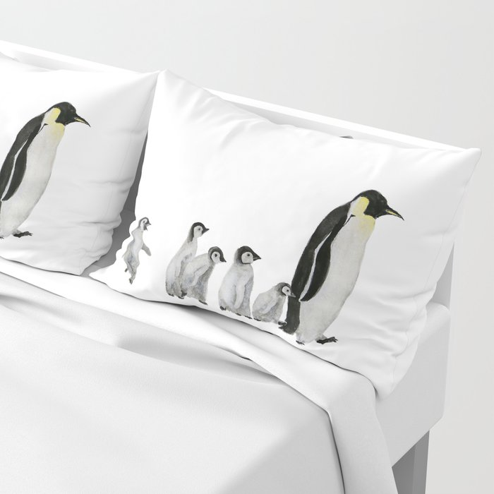 Little penguin says NO I am not going with you Pillow Sham