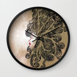 Enlightenment - Acrylic and Ink paint Wall Clock
