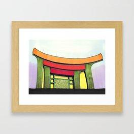 Cactus Pagoda Architectural Design 53 Framed Art Print