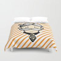 winchester Duvet Covers featuring Mr Winchester  by GÅRF