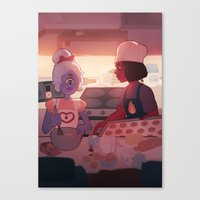baking Canvas Prints featuring baking by sleepysenshi