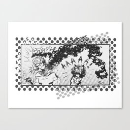 Neck Explosion Canvas Print