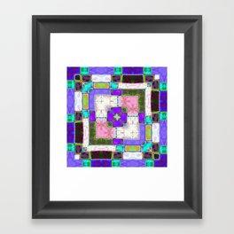 Glass Block Abstract Framed Art Print