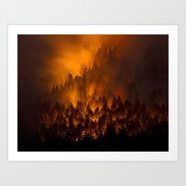 Wildfire Art Print