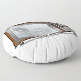 Patriotic Black And White Television Floor Pillow