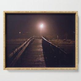 Foggy Footbridge Serving Tray
