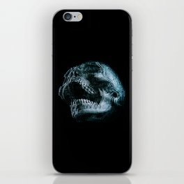 Analogue Glitch Skull iPhone Skin