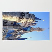 castle Area & Throw Rugs featuring Castle by Jillian Stanton