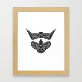 lowpolycybercat Framed Art Print