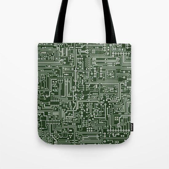 Circuit Board // Green & Silver by thinlinetextiles