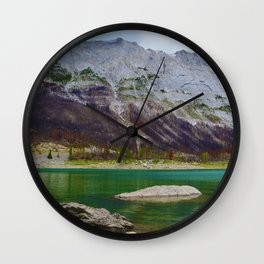 Medicine Lake in Jasper National Park, Canada Wall Clock