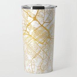 CHARLOTTE NORTH CAROLINA CITY STREET MAP ART Travel Mug