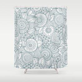 Pattern flower Shower Curtain