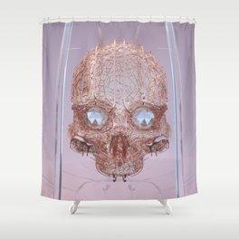 golden skull Shower Curtain