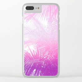 pastel palm Clear iPhone Case