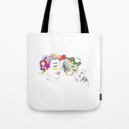 you look more beautiful than the flowers!  Tote Bag