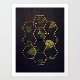 Bees in Space Art Print