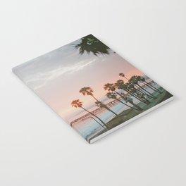 palm trees sunset vi / san clemente, california Notebook