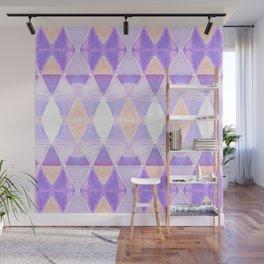 Art Deco Triangles Light Purple Wall Mural