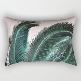 Palm Tree Leaves Rectangular Pillow