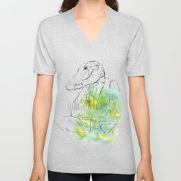 Lloras con lágrimas de cocodrilo (you cry with cocodrile tears) Unisex V-Neck