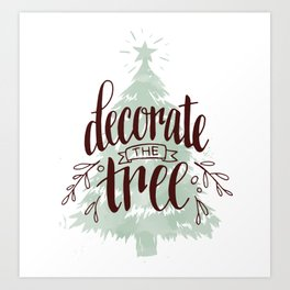 Decorate the Tree Art Print