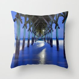 Topsail Pier on Clouds Throw Pillow