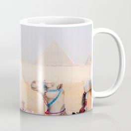 Camel at Pyramids of Giza Egypt Cairo Coffee Mug