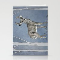 stag Stationery Cards featuring Stag  by Leanna Rosengren