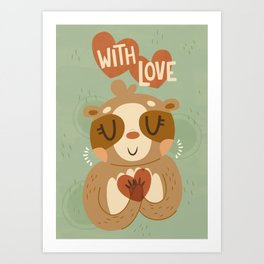 With Love From A Sloth Art Print