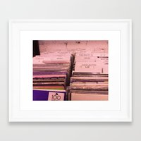 records Framed Art Prints featuring records by moor