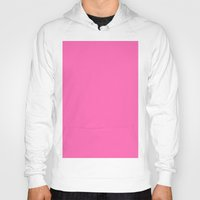 hot pink Hoodies featuring Hot pink by List of colors