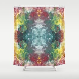 Colorful Marble Pattern Shower Curtain