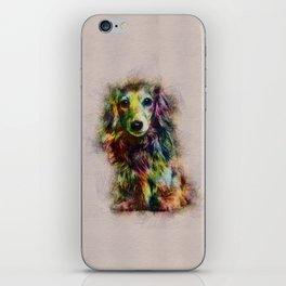 Dachshund Puppy Sketch Paint iPhone Skin