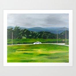 White Car Art Print