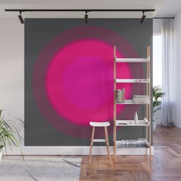 Hot Pink & Gray Focal Point Wall Mural