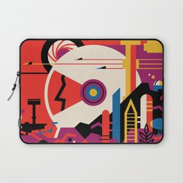NASA Retro Space Travel Poster #9 Mars Laptop Sleeve