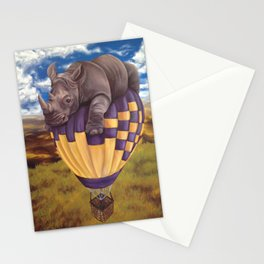 When Rhinos Fly Stationery Cards